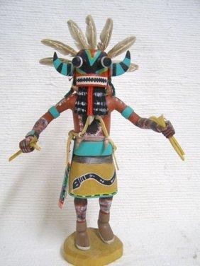 Antique Native American Hopi Carved Broadface Guard