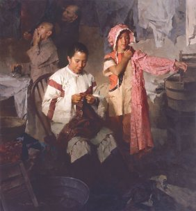 Mian Situ - The Calico Dress, Family Laundry, 1906