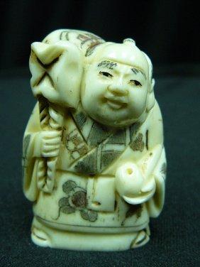 "2"" Bone Netsuke"