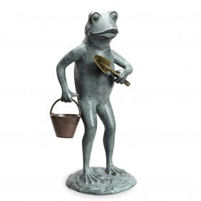 Green Thumb Frog Garden Sculpture