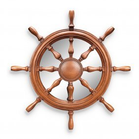 Ship's Wheel Wall Mirror