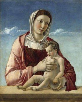 Giovanni Bellini - Madonna And Child - Madonna Frizzoni