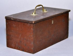 18th Century Mahogany Dovetailed Document Box With