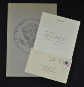 Jacqueline Kennedy White House Letter & Book