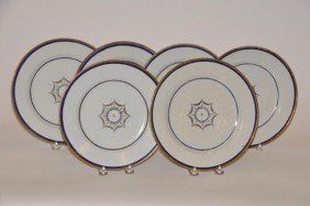 Set Of Six Chinese Export Decorated Plates