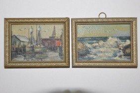 American School (20th Century) Pair Miniatures