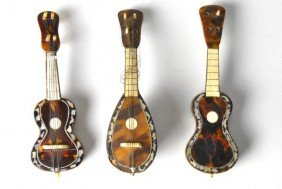 Lot Of Three Miniature Instruments With Tortoise