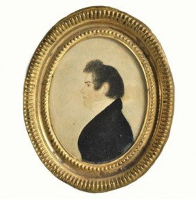 Early 19th Century American Watercolor Portrait