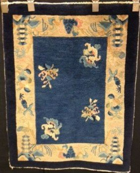 Early 20th Century Chinese Scatter Rug