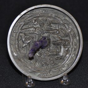 Cast Bronze Hand Mirror