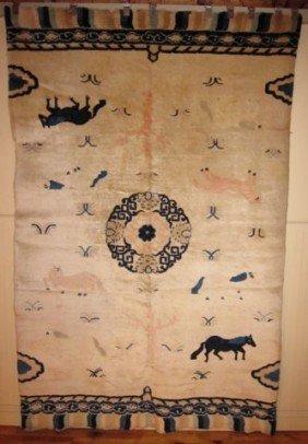 Rare 19th Century Chinese Pillar Rug