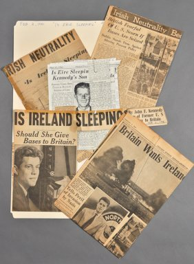 "1941-""Is Eire Sleeping?,""  News Clippings"