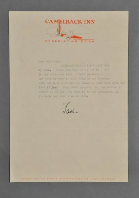 1945-Apr, John F. Kennedy, Signed Letter