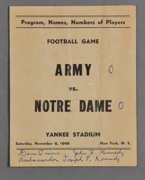 1946-Nov, Football Program Army Vs Notre Dame