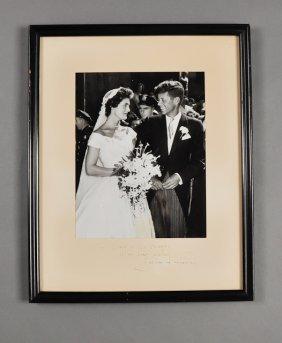 1953-Sept 12, Jackie Kennedy, Signed Photo