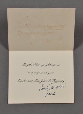 1956-Dec, J.F.K.-Christmas Card