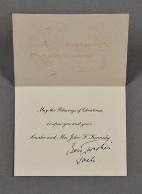 1956-Dec, J.F.K.-Christmas Card