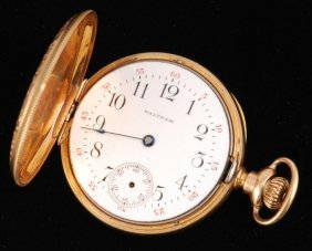 14k American Waltham Watch Co Pocket Watch
