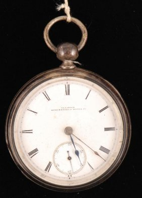 Illinois Springfield Watch Co. Silver Pocket Watch
