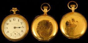(2) Seth Thomas & (1) C.h. Pixley Pocket Watches