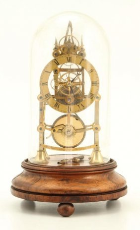 Alfred Merrick Fusee Steeple Skeleton Clock