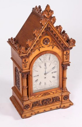 Victorian Carved Shelf Clock With (5) Chimes