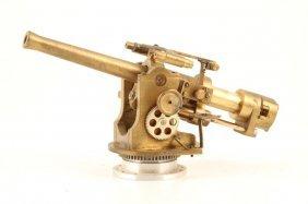 Hand Machined Wwii High Caliber Navy Deck Gun