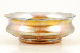 Tiffany Ribbed Favrile Bowl