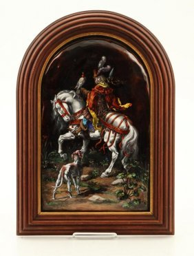 Limoges Theophile Soyer French Copper Enamel Plaque