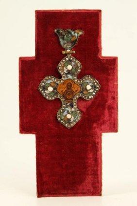 (18th/ 19th C) Byzantine Style Crucifix Pendant