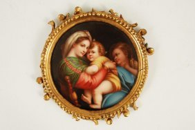 Madonna Of The Chair Framed Plaque