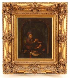 (19th C.) Dutch School Painting Of Dentist