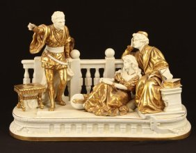 Scheibe-alsbach Porcelain Figural Group Germany