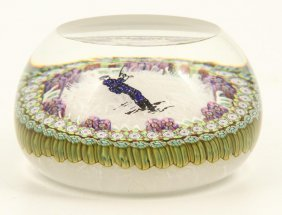 Perthshire Paperweight With Fly Fisherman