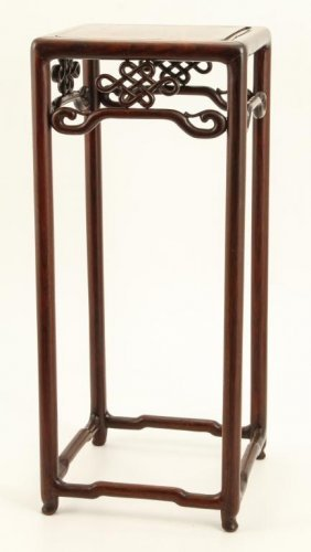 Carved Asian Hardwood Plant Stand