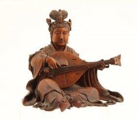 (19thc) Signed Hardwood Figure Playing Instrument