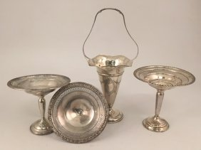(4) Pieces Of Sterling Silver Holloware