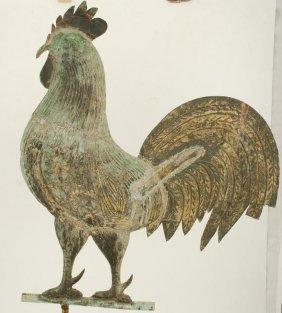 (19th C) Folk Art Rooster Weathervane