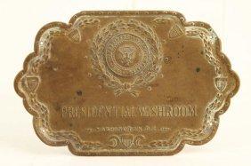 Presidential Washroom Washington Dc Door Plate
