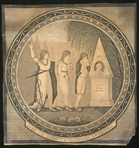1801 G Washington Momento Mori By T. Clarke Boston