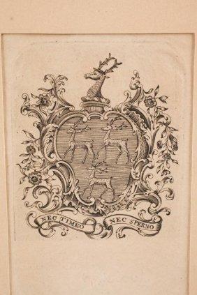 Paul Revere Bookplate Engraved For David Greene