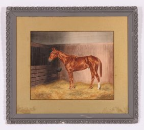 (19th/ 20th C) American School Horse Portrait