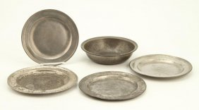 (5) Pieces Of Pewter