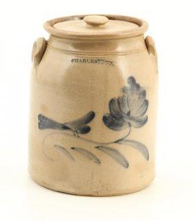 """2 Gallon Salt Glazed Stoneware Jar """"charlestown"""""""