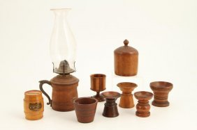 (9) Pieces Of Turned Treenware