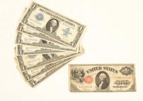(7) 1923 Silver Certificates & (1) 1917 Dollar Bil