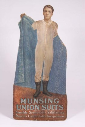 """""""munsing Union Suits"""" Store Display"""