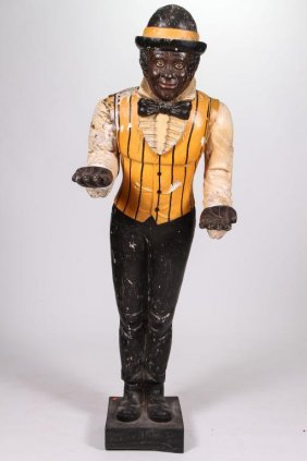 Black Americana Life-size Carved & Painted Figure