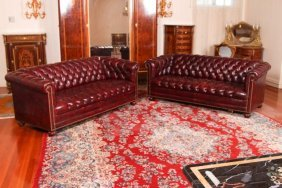 Pair Of 20th C Chesterfield Style Sofas