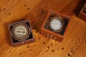 Lot Of Two Nautical Compasses